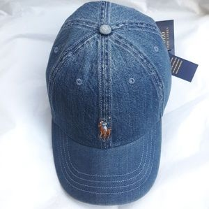 Polo NWT Denim Pony Strapback Adult MCClassics1
